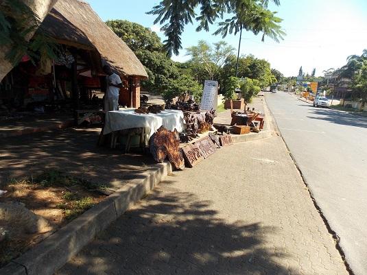 La rue principale de St Lucia Afrique du Sud