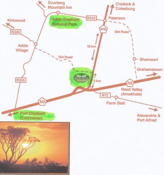 """carte source : """"Scotia Safaris Réserve Privée"""""""