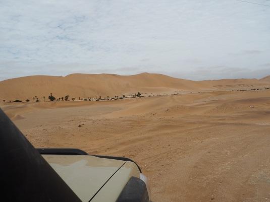 photo :  msiafricaroadtrip.com notre 4x4 face à la dune  7 Namibie