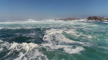 mer agitée  afrique du sud