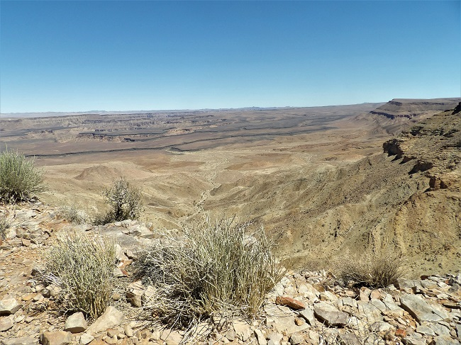 le Fish river canyon namibie