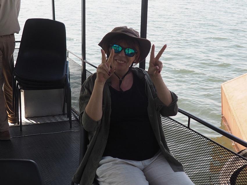 Le parc CHOBE en bateau Botswana