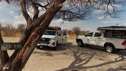 Photo : campsite Xaxa Kalahari Msiafricaroadtrip Botswana